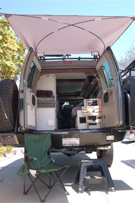 diy trailer awning diy rear awning sportsmobile forum overland
