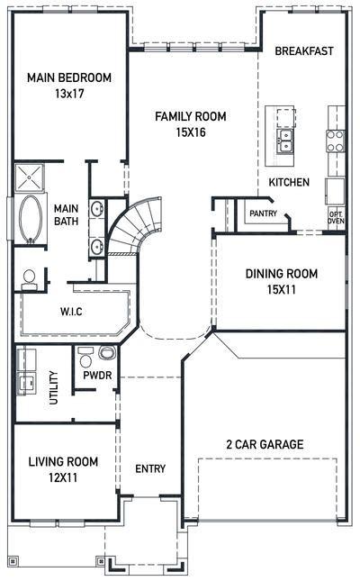 strasburg floor plan    home builder newmark homes
