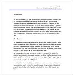 construction work template work plan template 4 free word pdf documents