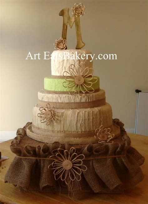 shabby chic wedding cakes shabby chic and ivory butter and green