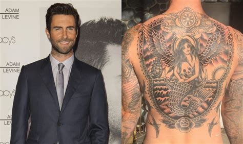 eagle tattoo adam levine adam levine reveals his huge new back tattoo one country