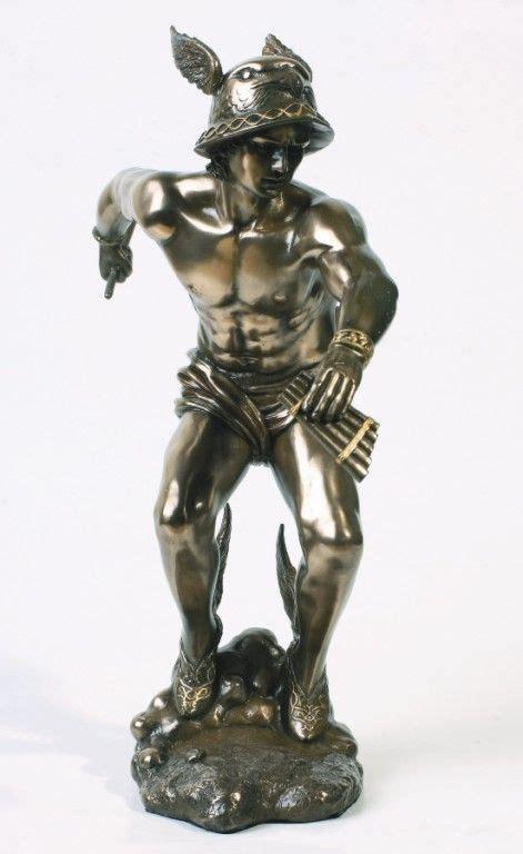 greek god statues hermes mercury statue the messenger of god figure greek