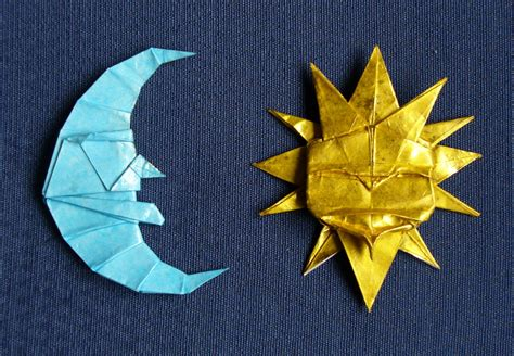 origami moon moon and sun sol y by figuer on deviantart