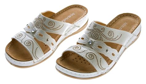 Clogs Damen Leder by Mules Womens Clogs Brown White Shoes Leather Soft Footbed