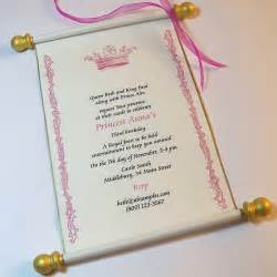 royal birthday scroll invitation set by artfulbeginnings