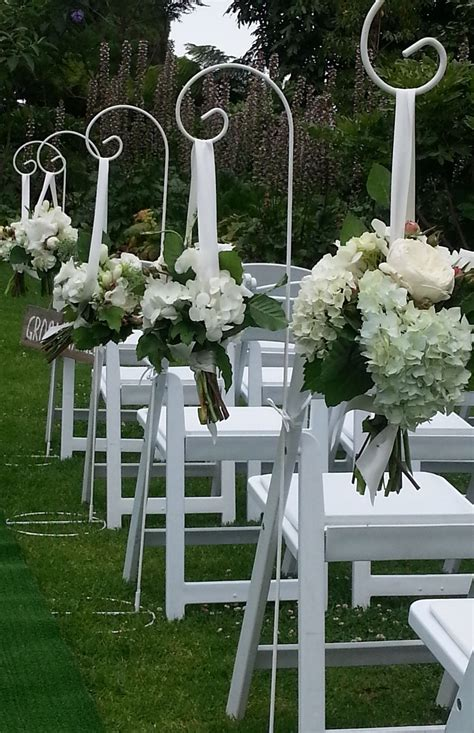 Wedding Aisle With Shepherds Hooks ceremonies i do decorations pakenham easy weddings