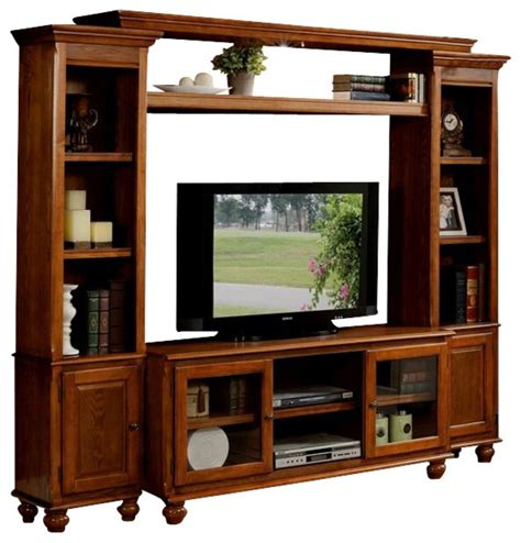 wood tv stand wall unit designs 4 piece dita light wood slim profile entertainment center