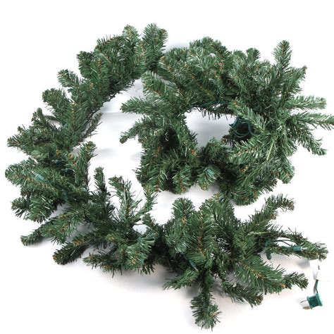prelit artificial pine garland on sale home decor