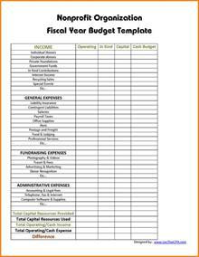 9 non profit budget template budget template