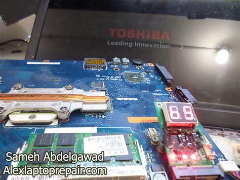 حل عطل لاب توب توشيبا لا يعرض علي الشاشة toshiba laptop no display on screen لابتوب ريبير