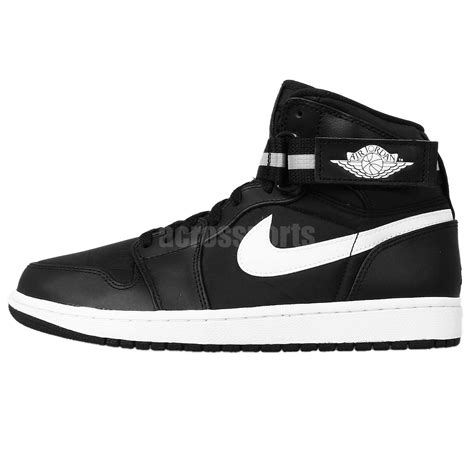 nike basketball shoes with straps nike air 1 high black white aj1 mens retro