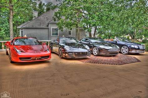 exotic cars lined exotic car line up ceramic art by kevin britton