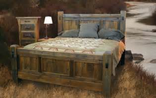 wooden bedroom furniture handcrafted reclaimed wood bed and bedroom furnture