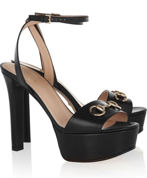Gucci 666 3 Platform Heels gucci horsebit detailed leather platform sandals shoes post