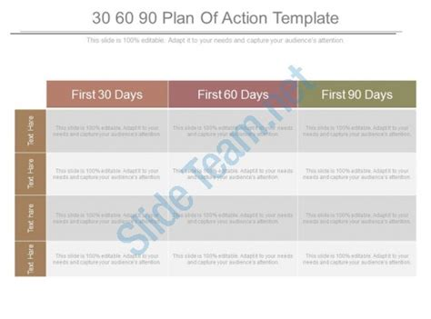 90 Days Template by 30 60 90 Plan Of Template Powerpoint Templates