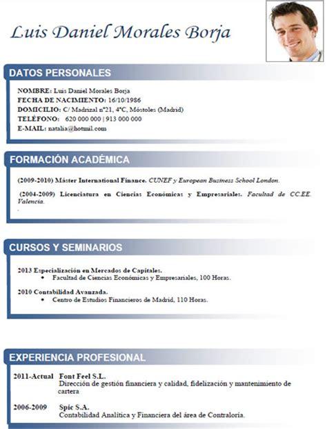 Modelo Curriculum Inglaterra Ejemplos Y Plantillas De Curriculum En Ingl 233 S Trabajar En Inglaterra Cvexpres Page 9