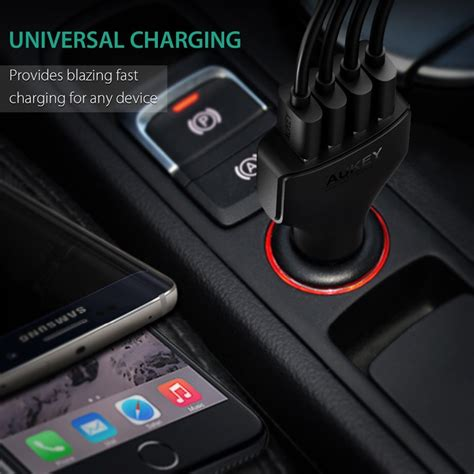 Aukey Charger Mobil 4 Port 55w 2 4a Qc 3 0 Aipower Cc T9 1 aukey charger mobil 4 port 55w 2 4a qc 3 0 aipower cc t9 black jakartanotebook