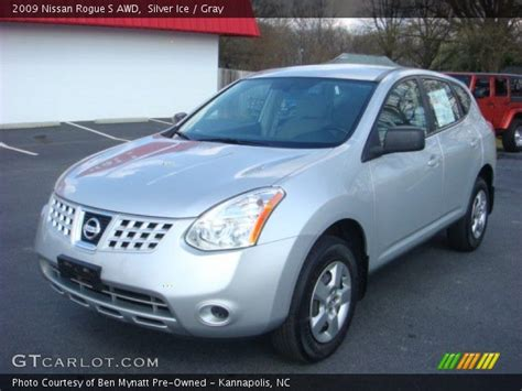 silver ice 2009 nissan rogue s awd gray interior