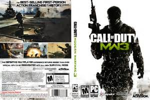 call of duty modern warfare 3 dvd cover 2011 pc