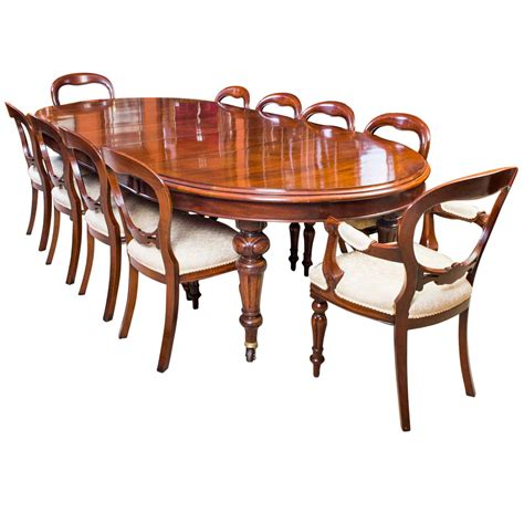 Dining Room Table With 10 Chairs Antique 10ft Dining Table 10 Chairs C 1870