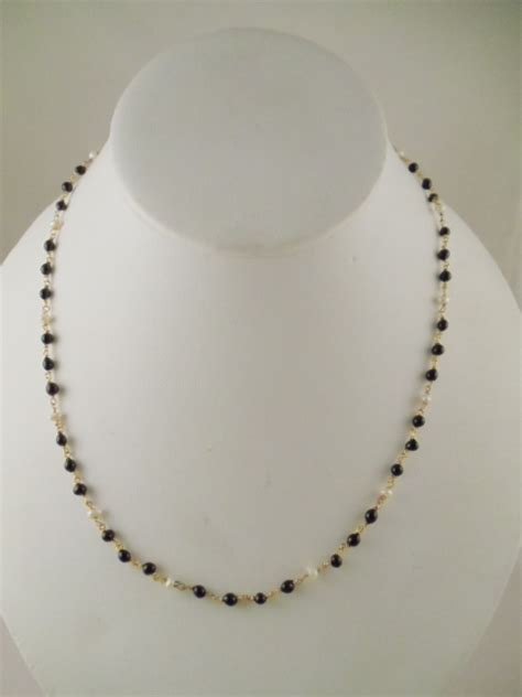 black bead necklace indian indian jewelry white and black necklace sets