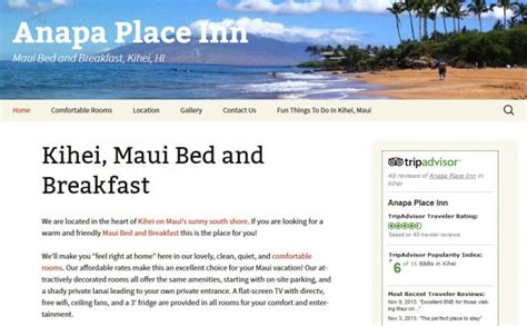 bed and breakfast maui anapa place inn digital images design llc digital