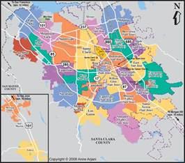San Jose Zip Code Map by San Jose Real Estate Market