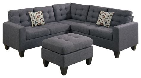 4 modular sectional sofa and ottoman contemporary