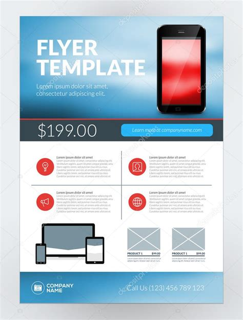 new business flyer template free vector business flyer design template for mobile application or new smartphone vector brochure