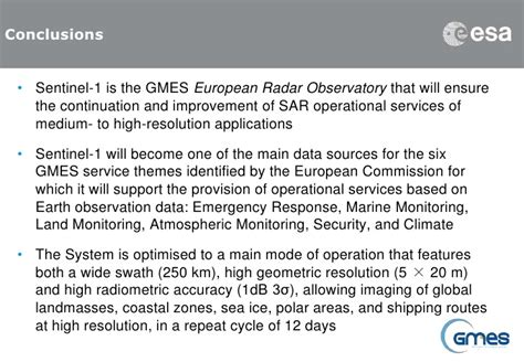 gmes sentinel 1 mission sciencedirectcom the sentinel 1 mission and its application capabilities