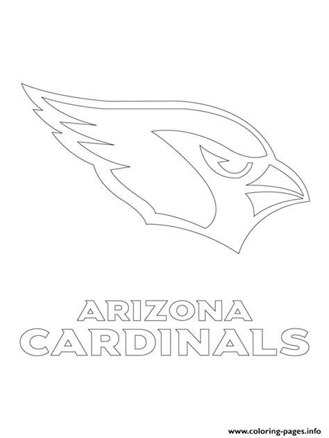 nfl cardinals coloring pages arizona cardinals logo football sport coloring pages printable
