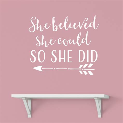 she believed she could so she did 2018 planner weekly and monthly calendar schedule organizer and journal notebook books she believed she could so she did vinyl wall decal