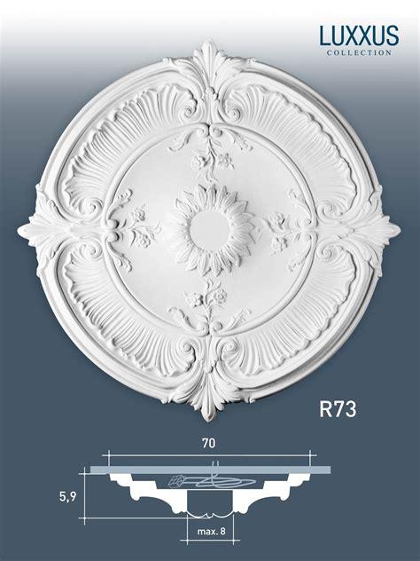 zierrosette stuck orac decor r73 luxxus rosette stuck - Stuck Polyurethan