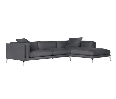Como Sectional Chaise In Fabric Right Modular Sofa