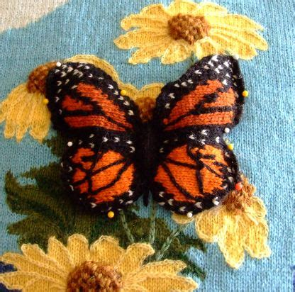 how to knit a butterfly knitted intarsia 3 d butterfly creative knitting