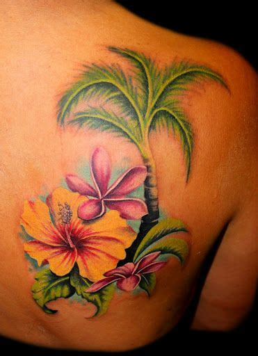 exotic flower tattoos tropical flowers ideas flower