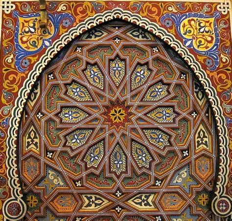 moroccan architecture islamic arts designs pinterest pure moroccan art hand painted and sculpted wooden door