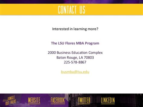 Lsus Mba Data Analytics lsu flores mba audit specialization
