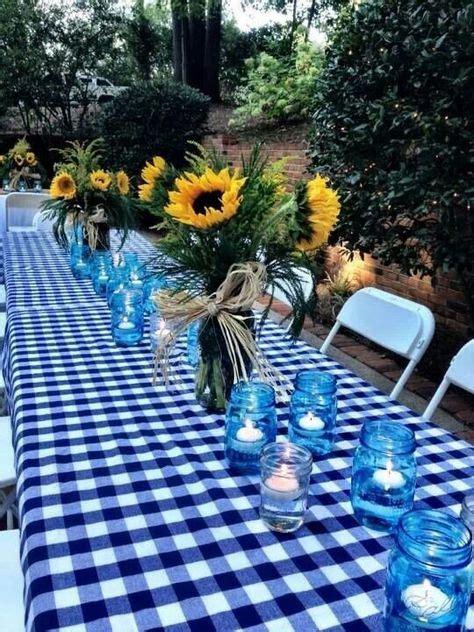Backyard Bbq Table Centerpieces Rehearsal Dinner Ideas On Rehearsal Dinner