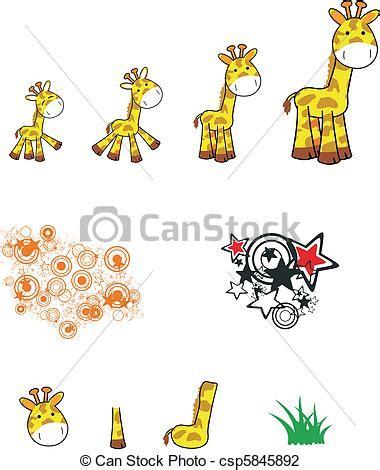 ilustraciones vectoriales de jirafa caricatura vector ilustraciones de vectores de jirafa caricatura conjunto