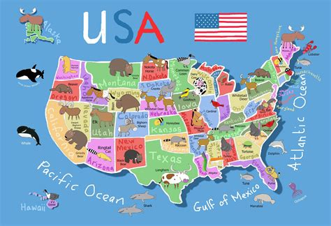 map of the usa geography kid s map of united states maps