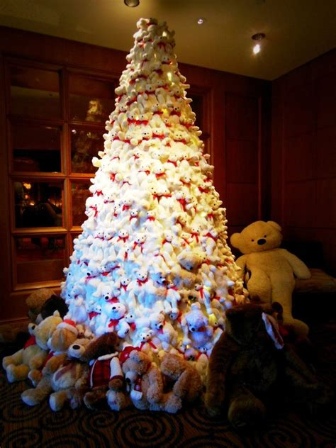 teddy bear christmas tree christmas holiday ideas