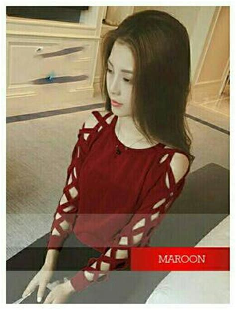 deily blouse maroon baju atasan wanita murah cantik hits kekinian baju atasan wanita cantik modern murah modis