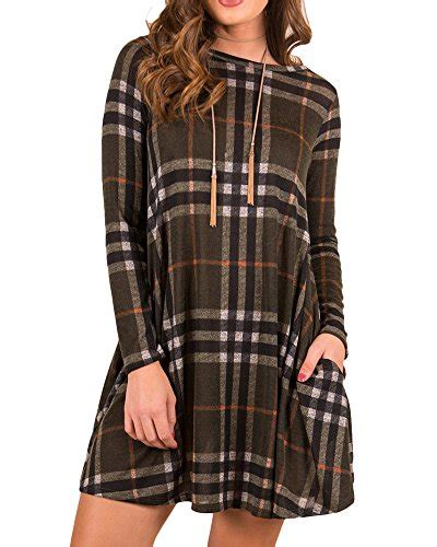 Winegreenbeige Stripe Casual Top 24540 boloren womens plaid shirt mini dress with pocket sleeve neck casual