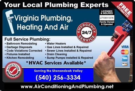 24 hour plumbing heating and cooling service