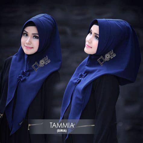 Jilbab Segi Empat Wanita Hitam Color Motif Kekinian Bermerek jilbab instan siria tammia model jilbab pesta terbaru 2018