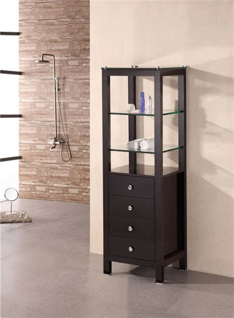 contemporary linen cabinet contemporary bathroom