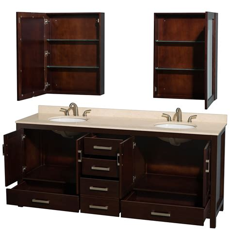 Sheffield 80 Inch Double Sink Bathroom Vanity Espresso Dual Bathroom Vanities