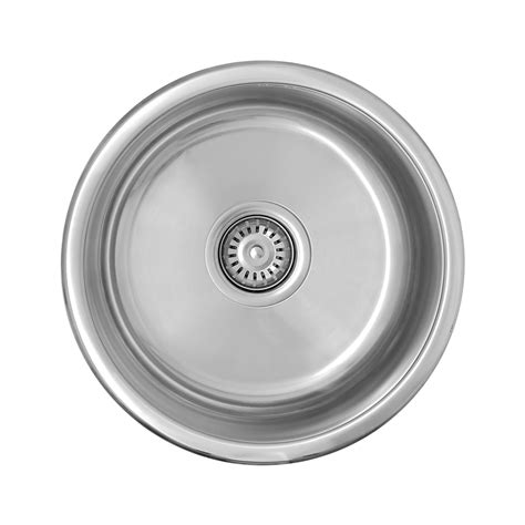 round kitchen sinks stainless steel enki stainless steel 1 0 single bowl round inset topmount