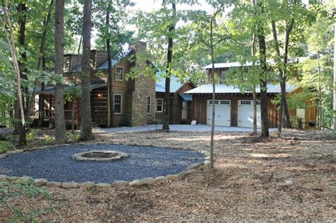 north georgia log cabin rustic landscape atlanta by clark zook architects llc